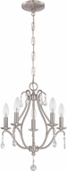 Craftmade 1015C-BNK Brushed Nickel Mini Chandelier Lighting