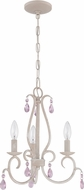 Craftmade 1033P-ATL Antique Linen Mini Chandelier Light