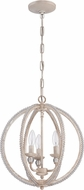 Craftmade 1043C-ATL Antique Linen Mini Ceiling Chandelier