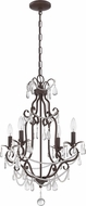 Craftmade 1054C-AG Aged Bronze Textured Mini Chandelier Light