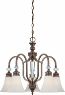 Craftmade 26725-MB Boulevard Mocha Bronze Mini Chandelier Lamp