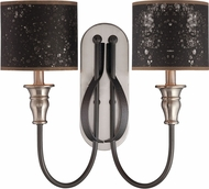 Craftmade 28162-HIBNK Preston Hollow Hammered Iron/Brushed Nickel Wall Lighting Sconce