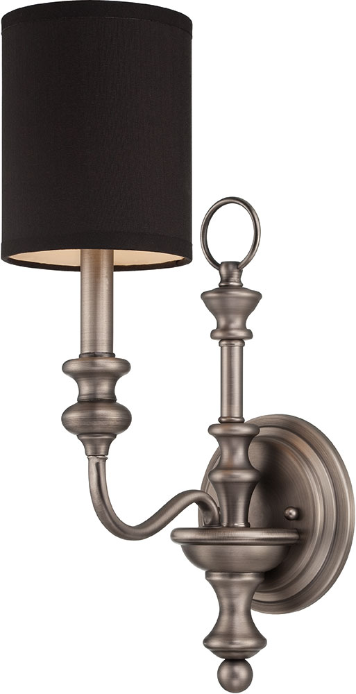 Jeremiah 28561-AN Willow Park Antique Nickel Wall Light Sconce - JER-28561-AN