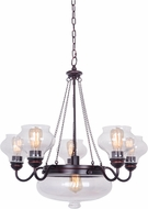 Craftmade 35026-OBG Yorktown Contemporary Oil Rubbed Gilded Chandelier Light