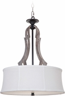 Craftmade 35193-WP Winton Weathered Pine/Bronze Drum Drop Ceiling Lighting