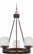 Craftmade 35423-PR Kenswick Peruvian Bronze Mini Chandelier Lamp