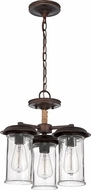 Craftmade 36153-ABZ Thornton Aged Bronze Mini Lighting Chandelier
