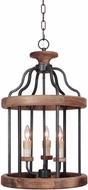 Craftmade 36533-TBWB Ashwood Textured Black/Whiskey Barrel Entryway Light Fixture