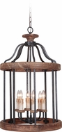 Craftmade 36536-TBWB Ashwood Textured Black/Whiskey Barrel Foyer Lighting