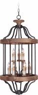 Craftmade 36539-TBWB Ashwood Textured Black/Whiskey Barrel Foyer Light Fixture