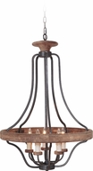Craftmade 36545-TBWB Ashwood Textured Black/Whiskey Barrel 26  Pendant Lighting Fixture