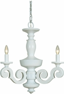 Craftmade 36923-GW Atelier Gloss White Mini Lighting Chandelier