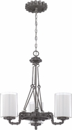 Craftmade 38623-AGV Prime Aged Galvanized Mini Hanging Chandelier