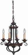 Craftmade 38724-AGTB Stafford Aged Bronze/Textured Black Mini Chandelier Lamp
