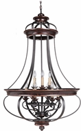 Craftmade 38739-AGTB Stafford Aged Bronze/Textured Black 30  Foyer Lighting