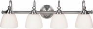 Craftmade 39904-BNK Brighton Brushed Polished Nickel 4-Light Vanity Light Fixture