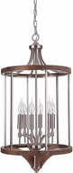 Craftmade 40336-BNKWB Tahoe Brushed Nickel / Whiskey Barrel Foyer Lighting Fixture