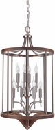 Craftmade 40338-BNKWB Tahoe Brushed Nickel / Whiskey Barrel Foyer Lighting