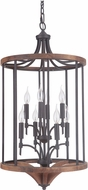 Craftmade 40338-ESPWB Tahoe Espresso / Whiskey Barrel Foyer Light Fixture