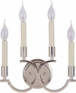 Craftmade 40464-PLN Crescent Polished Nickel Wall Lighting