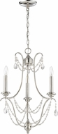 Craftmade 41123-PLN Lilith Polished Nickel Mini Hanging Chandelier
