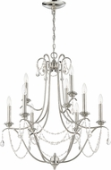 Craftmade 41129-PLN Lilith Polished Nickel Chandelier Lamp