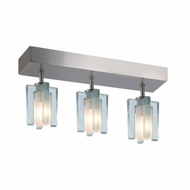 Jesco CM301-3R Akina Contemporary Satin Nickel Finish 2.625  Wide Halogen Ceiling Light