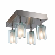 Jesco CM301-4R Akina Modern Satin Nickel Finish 6.125  Tall Halogen Ceiling Light Fixture