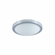 Jesco CM322S Moonlight Contemporary Chrome Finish 12  Wide Fluorescent Ceiling Lighting Fixture