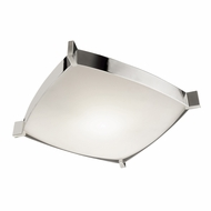 Jesco CTC604L Linea Modern Chrome Finish 4.5  Tall Fluorescent Ceiling Light Fixture