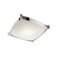 Jesco CTC604M Linea Contemporary Chrome Finish 15.75  Wide Fluorescent Flush Lighting