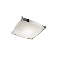 Jesco CTC604S Linea Modern Chrome Finish 4.125  Tall Fluorescent Flush Mount Lighting