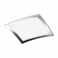 Jesco CTC609L Sui Contemporary Chrome Finish 19.75  Wide Fluorescent Flush Mount Ceiling Light Fixture