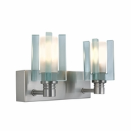 Jesco WS301-2 Akina Modern Satin Nickel Finish 8.75  Wide Halogen Vanity Light Fixture
