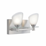 Jesco WS304-2 Slantus Contemporary Satin Nickel Finish 5.875  Tall Halogen Vanity Lighting Fixture