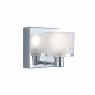 Jesco WS305-1CR Crystal Modern Chrome Finish 4.25  Wide Xenon Wall Sconce