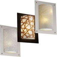 Justice Design 3FRM-5563 3form Framed 12 Wide Wall Mounted Lamp