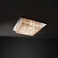 Justice Design ALR-5565 Alabaster Rocks!� 12  Wide Ceiling Light Fixture