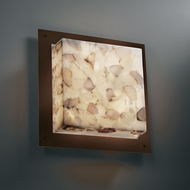 Justice Design ALR-5567-WS Alabaster Rocks!� 16  Wide Wall Lighting