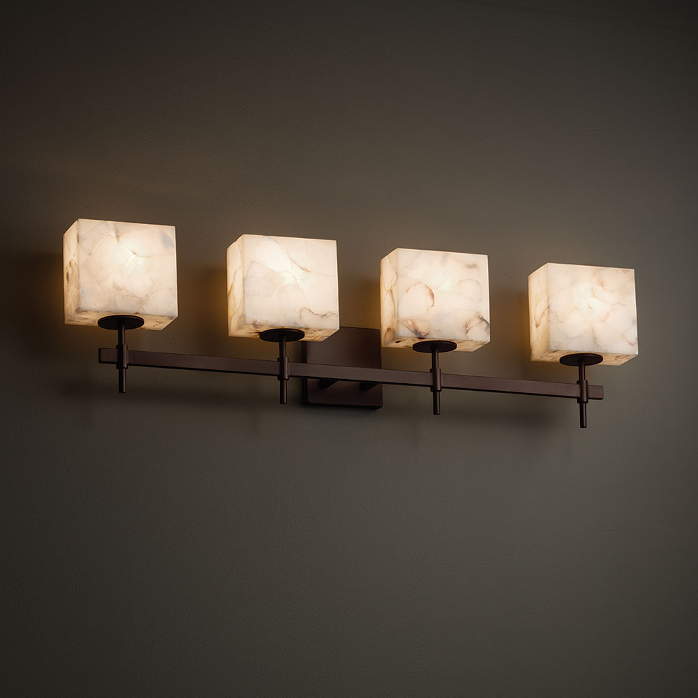 Justice Design Alr 8414 Union Alabaster Rocks 4 Light Bathroom Lighting Jus Alr 8414