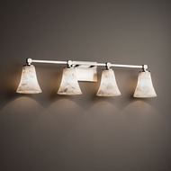 Justice Design ALR-8424 Tetra Alabaster Rocks! 4-Light Lighting For Bathroom