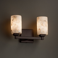 Justice Design ALR-8432 Regency Alabaster Rocks! 2-Light Bath Lighting