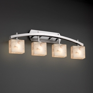 Justice Design ALR-8594 Archway Alabaster Rocks! 4-Light Bathroom Lighting Fixture