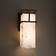 Justice Design ALR-8646W Structure Alabaster Rocks! Exterior Wall Light Fixture