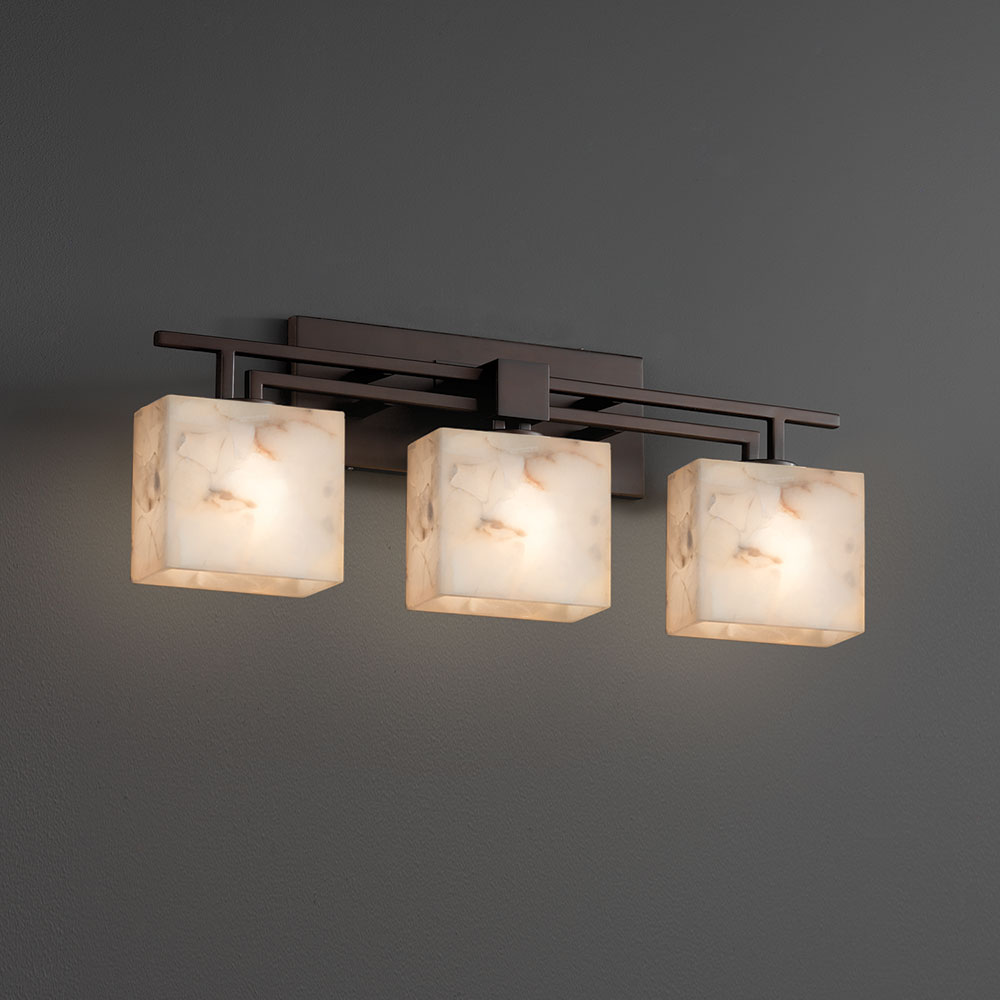 Justice Design ALR-8703 Aero Alabaster Rocks! 3-Light Bathroom Light ...