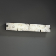 Justice Design ALR-8870 Alabaster Rocks! Modern LED Bathroom Light