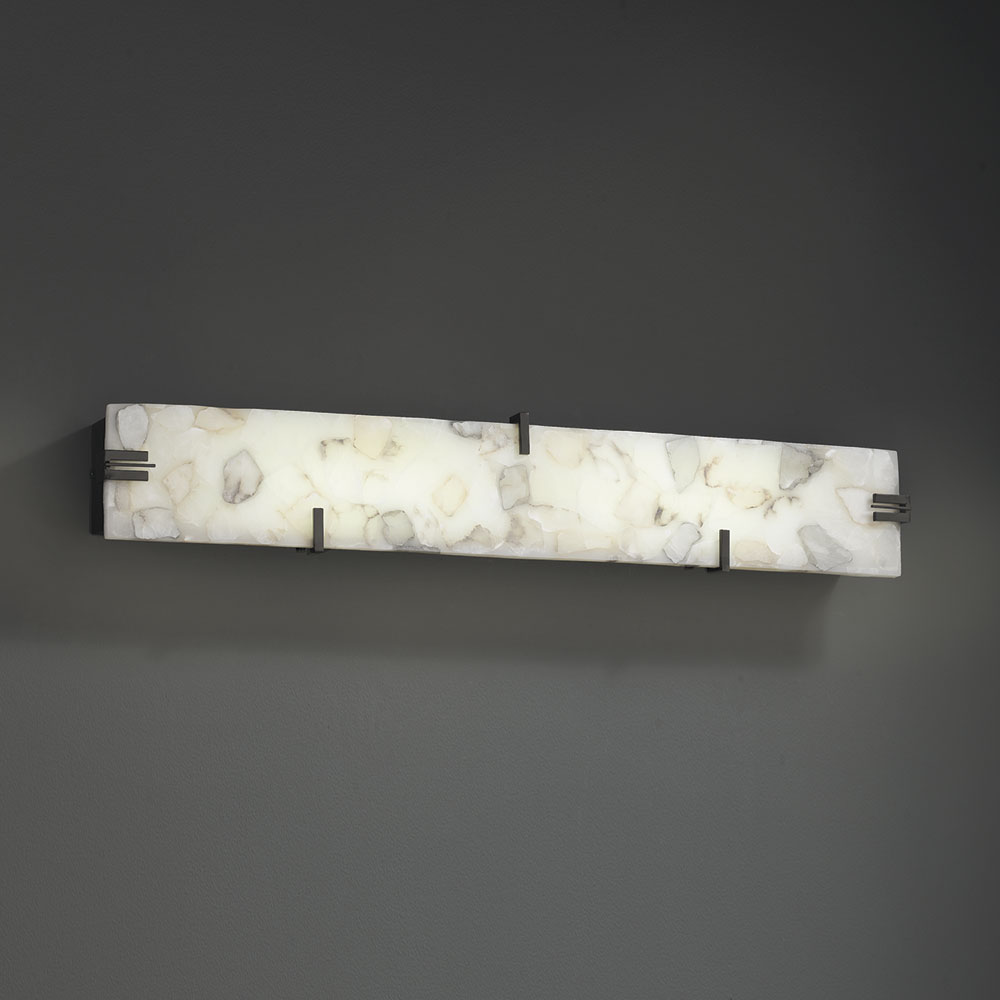 Justice design alr 8880 alabaster rocks contemporary led for Bathroom lighting fixtures