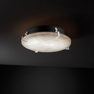 Justice Design CLD-5547-FM Clouds� 16.5  Wide Flush Ceiling Light Fixture