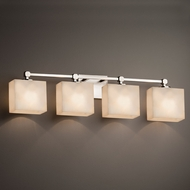 Justice Design CLD-8424 Tetra Clouds 4-Light Vanity Light Fixture