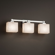 Justice Design CLD-8433 Regency Clouds 3-Light Bathroom Vanity Light Fixture